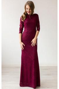Вечернее платье марсала русалка