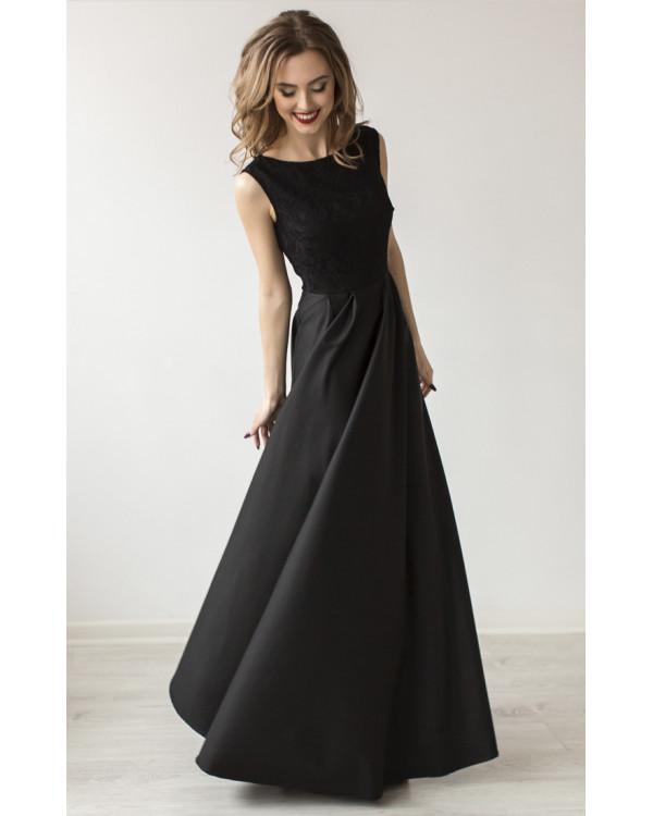 Платье Черное С Кружевом С Доставкой