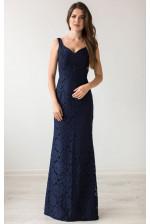 Вечернее платье с кружевом