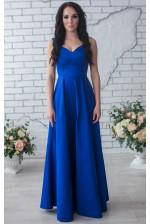 Вечернее синее платье в пол