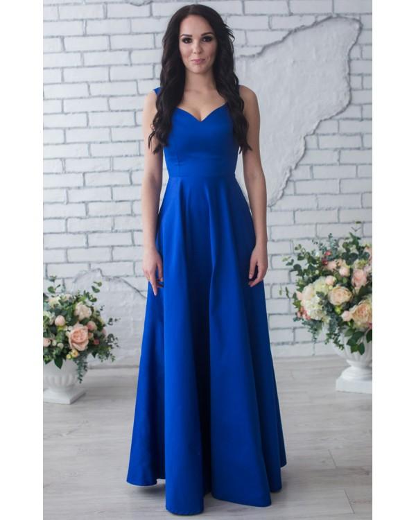 fc462fba742f6e Вечернее синее платье в пол купить в интернет-магазине Роял-бутик ...