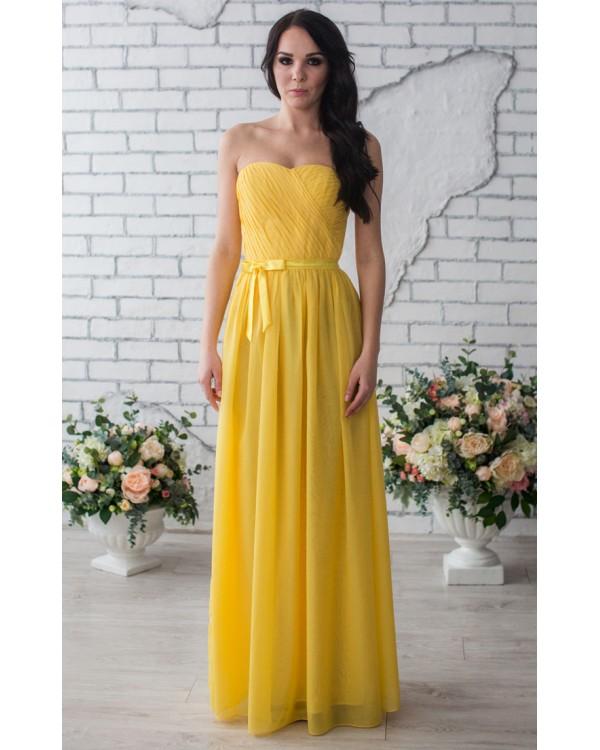 5745f83aae3c Желтое вечернее платье купить в интернет-магазине Роял-бутик ...