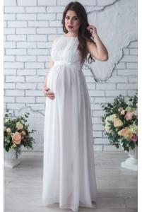 Длинное свадебное платье для беременных