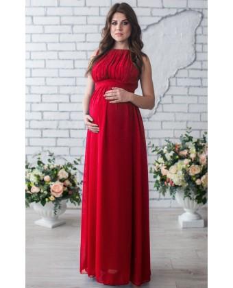 Красное платье для беременных