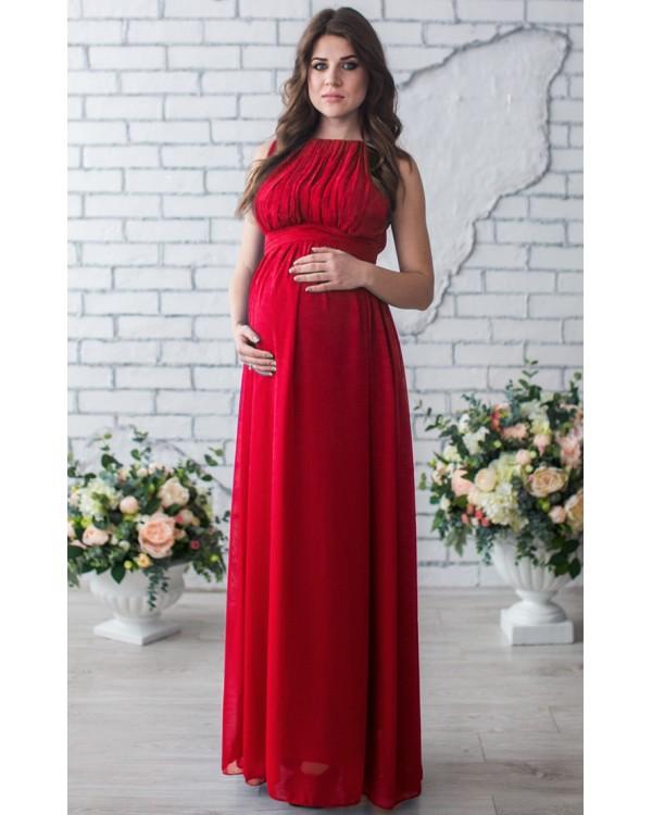 Шифоновое платье в пол беременным