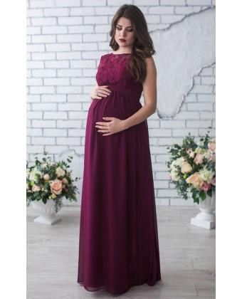 Платье для беременных марсала