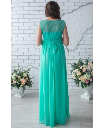 Платье в пол для беременных мята