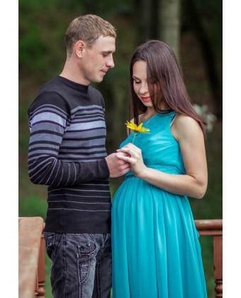Вечернее длинное платье для беременных