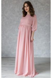 Элегантное пудровое платье для беременных