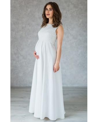 Классическое свадебное платье для беременных