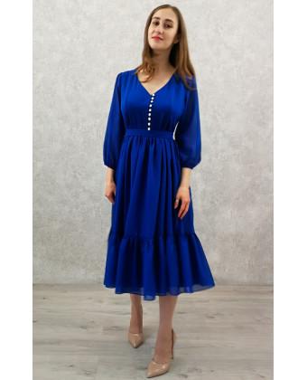 Коктейльное платье с пуговками