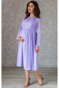 Лавандовое коктейльное платье для беременных