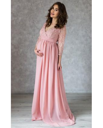 Нежное платье в пол для беременных и кормящих