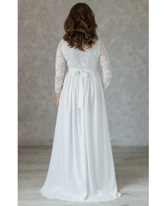 Нежное свадебное платье для беременных