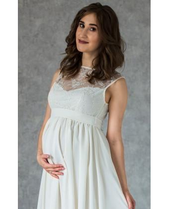 Платье на роспись с кружевом для беременных