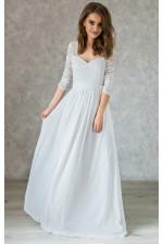Платье на роспись с рукавом
