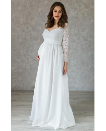 Платье на роспись с рукавом для беременных