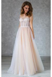 Свадебное платье на корсете с чашечками