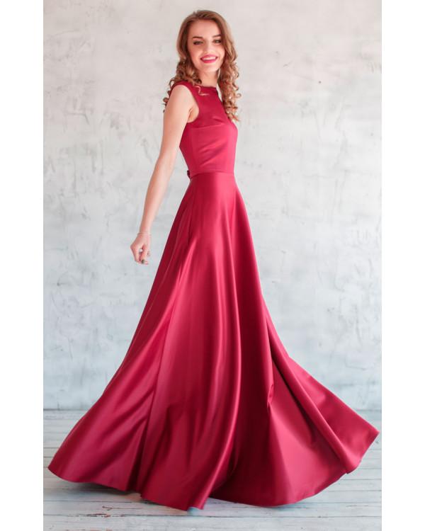 e98354c0a50f9ae Элегантное платье марсала купить в интернет-магазине Роял-бутик ...