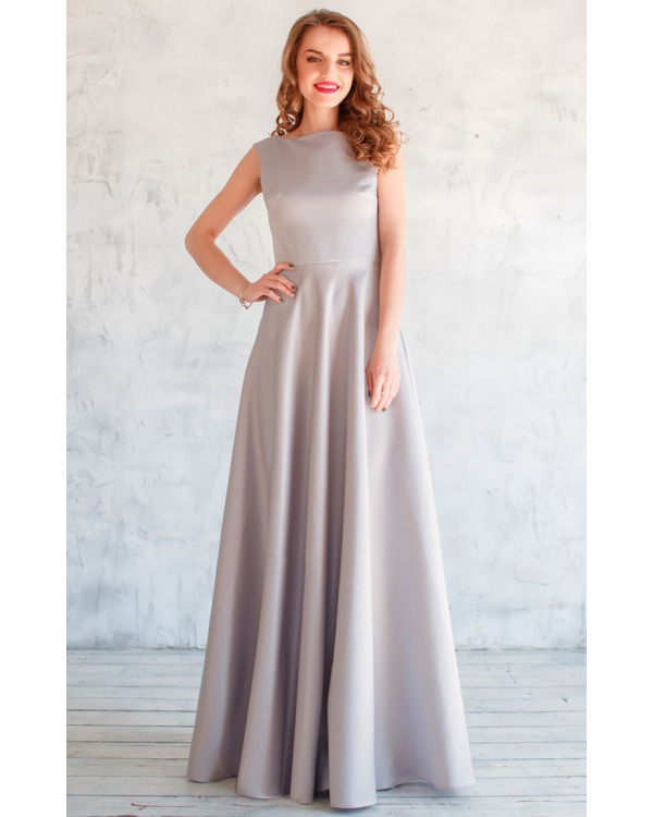 d169536f352423c Элегантное платье в сером цвете купить в интернет-магазине Роял ...