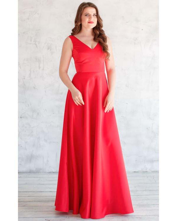 73ad0de6472ce0f Красное атласное платье купить в интернет-магазине Роял-бутик ...