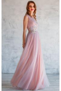 Женское льняное платье в горошек (2 цвета)