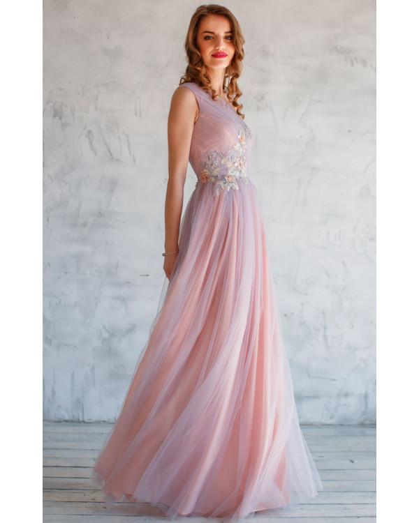 0f546f3b3a2 Нежное вечернее платье с цветами купить в интернет-магазине Роял ...