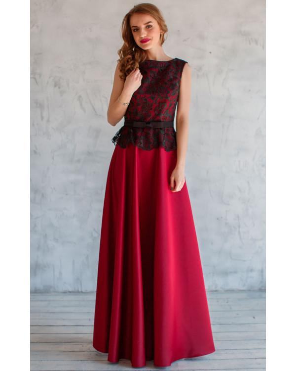 ed5f9030b540310 Платье с атласной юбкой купить в интернет-магазине Роял-бутик ...