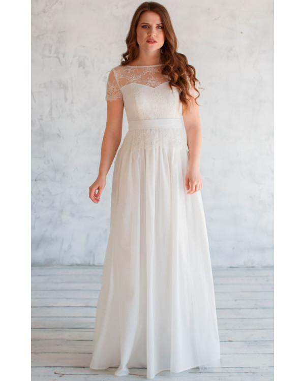 e82ee9426f7 Свадебное платье с баской купить в интернет-магазине Роял-бутик ...