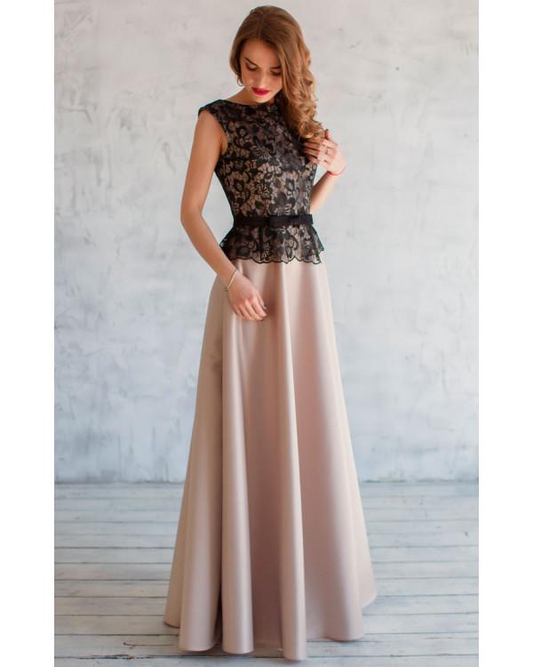 95468f7013be58a Вечернее платье с атласной юбкой купить в интернет-магазине Роял ...