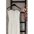 Кружевное свадебное платье на корсете