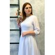 Белое платье миди с рукавом 3/4