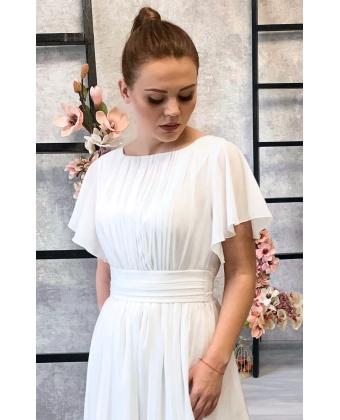 Белое платье в греческом стиле с рукавчиком
