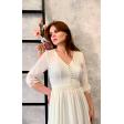 Длинное платье на роспись с пуговками