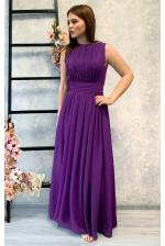 Фиолетовое платье в греческом стиле