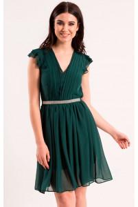 Короткое платье изумрудное