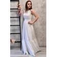 Легкое шифоновое платье айвори