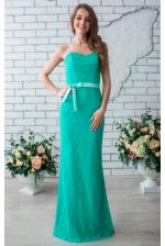 Мятное вечернее платье б/б