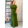 Оливковое платье в греческом стиле с рукавчиком