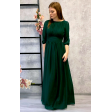 Платье в греческом стиле с рукавом 3/4 изумруд