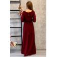 Платье в греческом стиле с рукавом 3/4 марсала