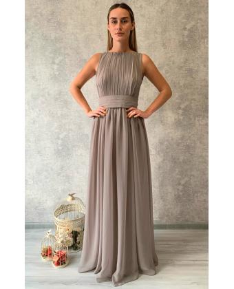Платье в греческом стиле серое
