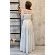 Платье в стиле бохо с рукавом айвори
