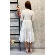 Стильное белое платье миди