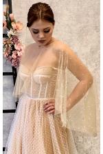 Свадебная накидка на плечи из сеточки
