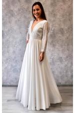 Свадебное платье бохо с рукавом