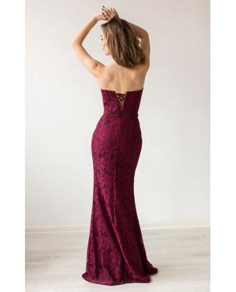 Вечернее платье марсала б/б