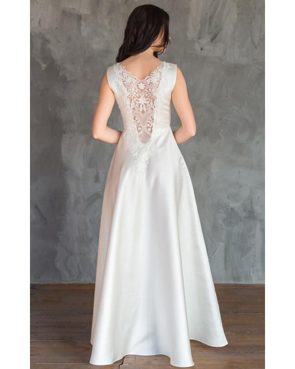 7e73425ebd08ebb Атласное свадебное платье с кружевной спиной купить в интернет ...