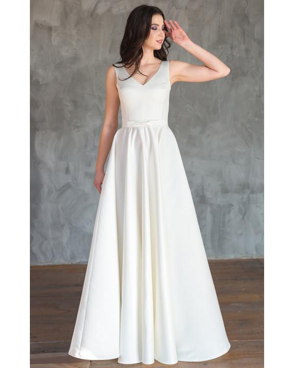cfdf249cffc Атласное свадебное платье с юбкой солнце купить в интернет-магазине ...
