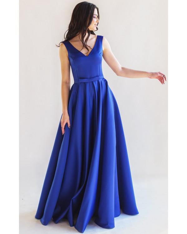 edf67aea0057fb7 Атласное вечернее платье с юбкой солнце купить в интернет-магазине ...